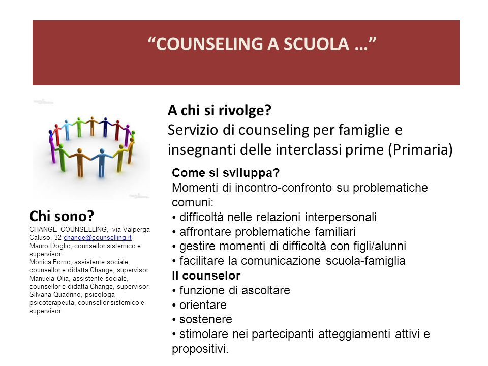 COUNSELING A SCUOLA …