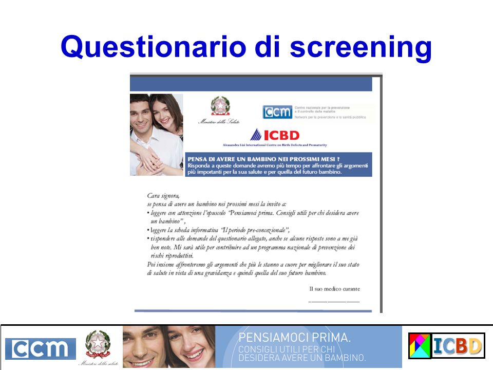 Questionario di screening