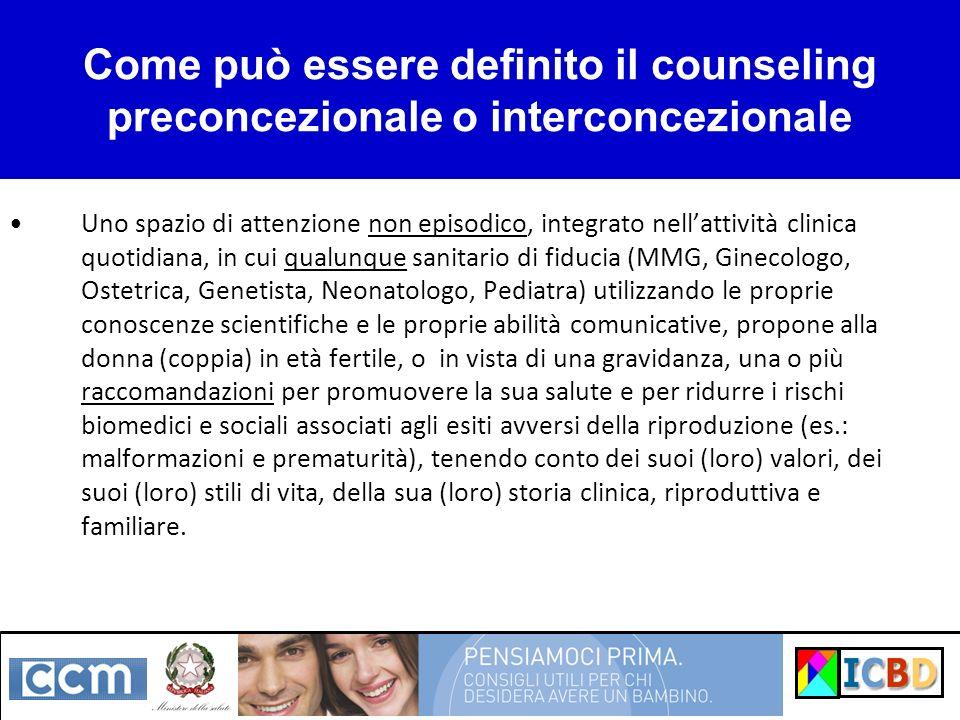 Come può essere definito il counseling preconcezionale o interconcezionale