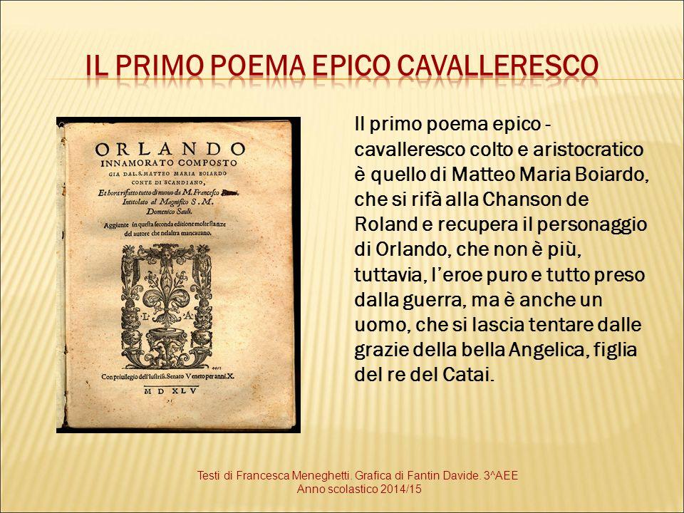 Il primo poema epico cavalleresco