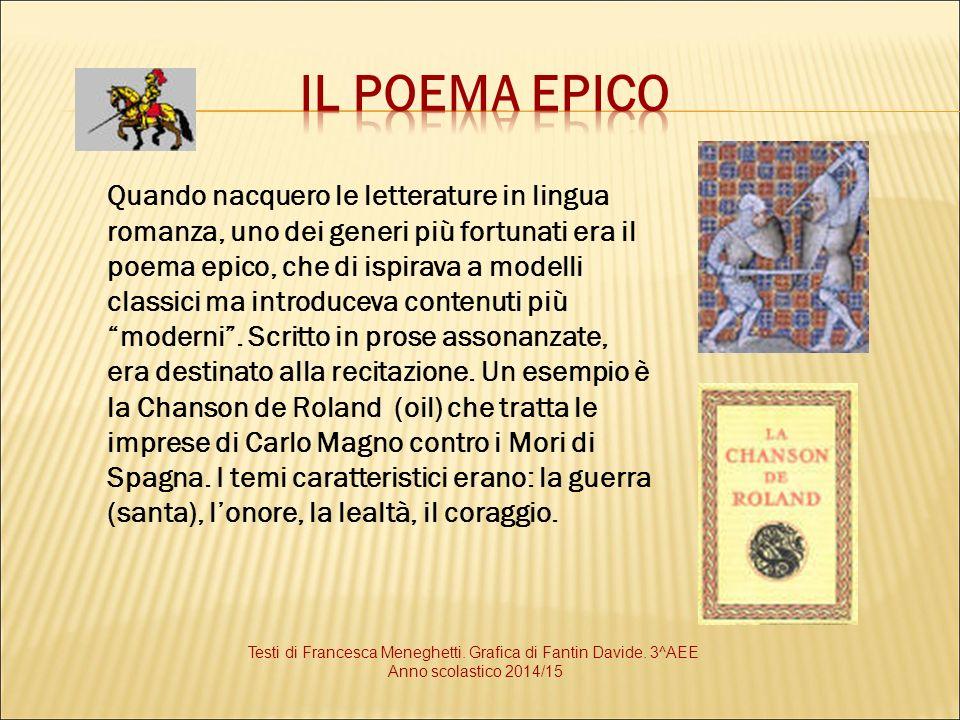 Testi di Francesca Meneghetti. Grafica di Fantin Davide. 3^AEE