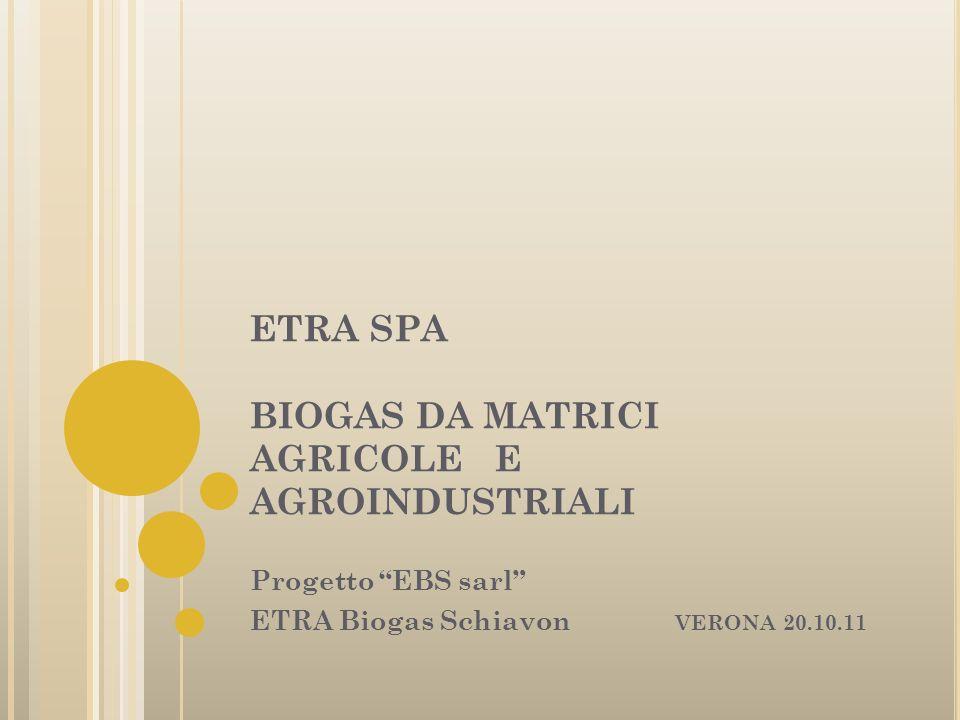 ETRA SPA BIOGAS DA MATRICI AGRICOLE E AGROINDUSTRIALI