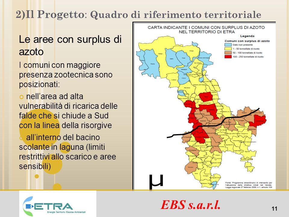 2)Il Progetto: Quadro di riferimento territoriale