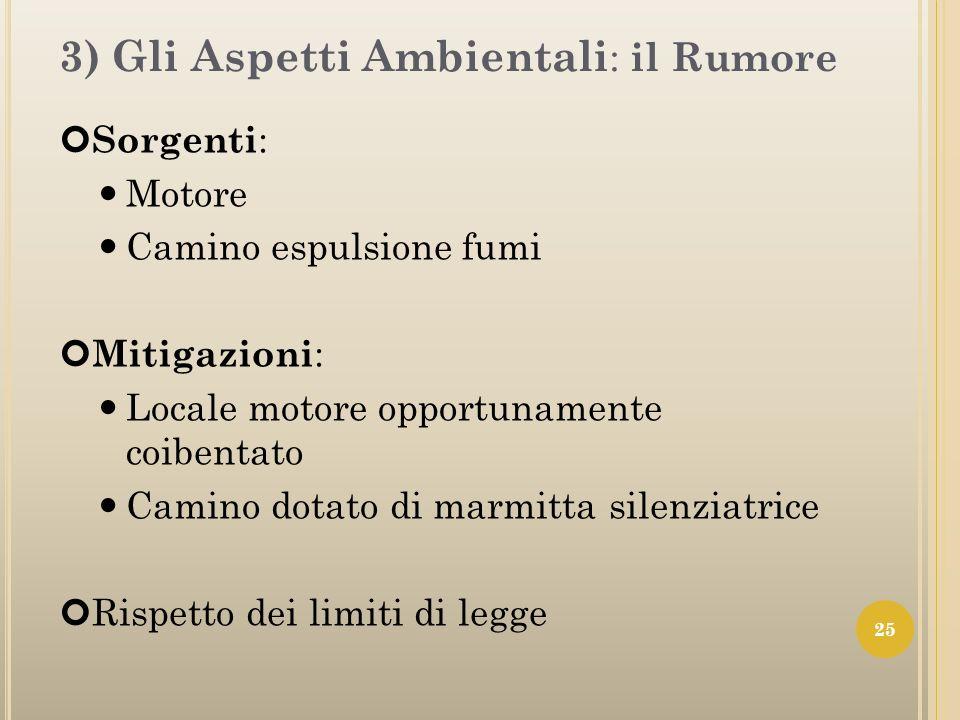 3) Gli Aspetti Ambientali: il Rumore
