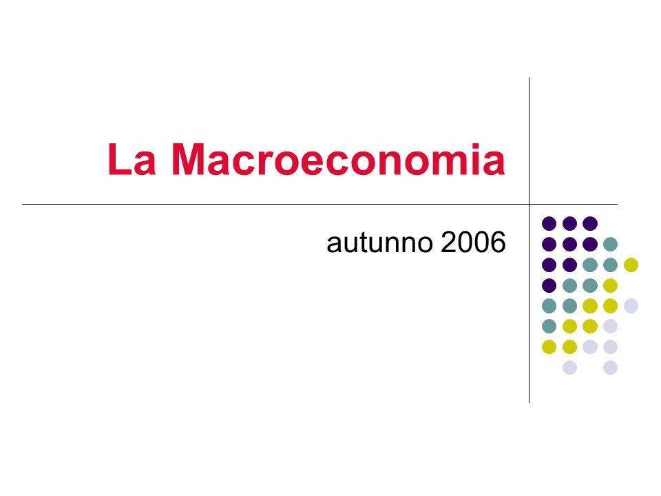 La Macroeconomia autunno 2006