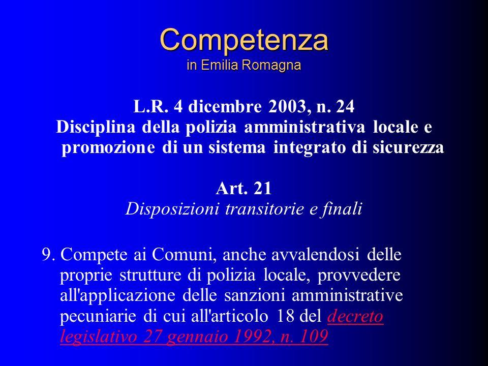 Competenza in Emilia Romagna