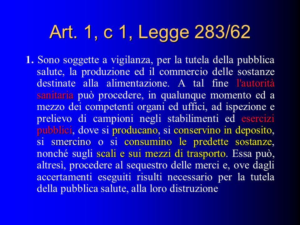 Art. 1, c 1, Legge 283/62