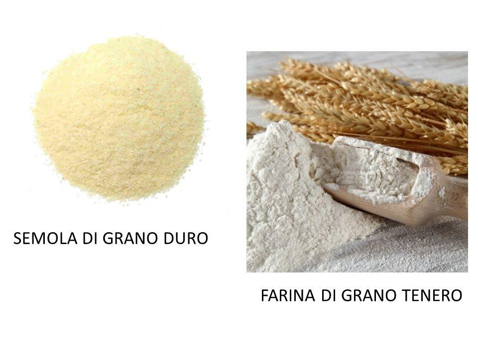 SEMOLA DI GRANO DURO FARINA DI GRANO TENERO