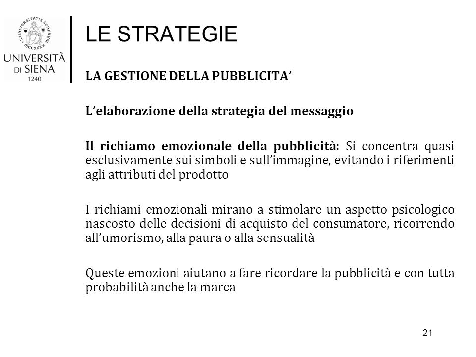 LE STRATEGIE