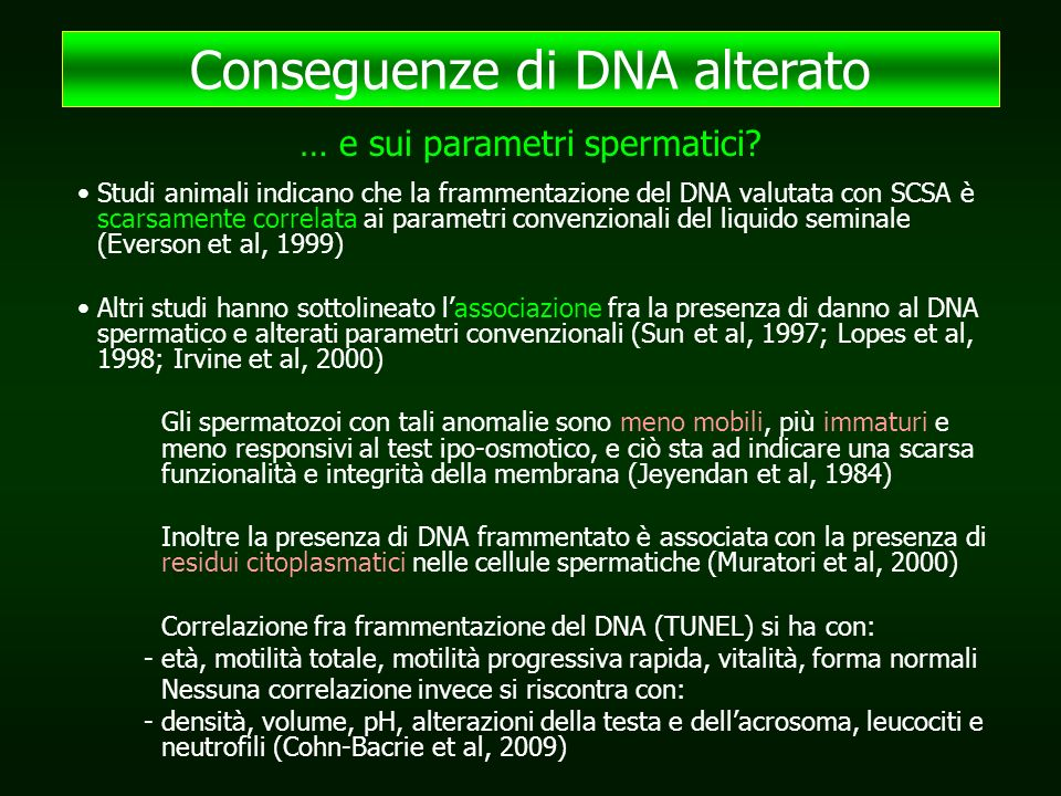 Conseguenze di DNA alterato