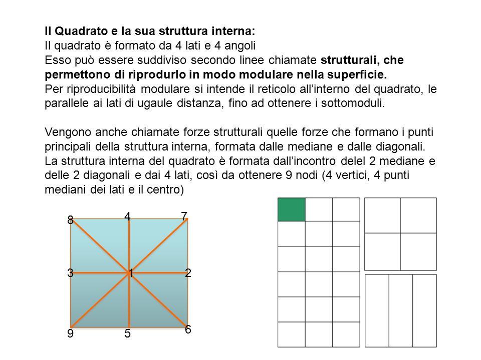 Il Quadrato e la sua struttura interna: