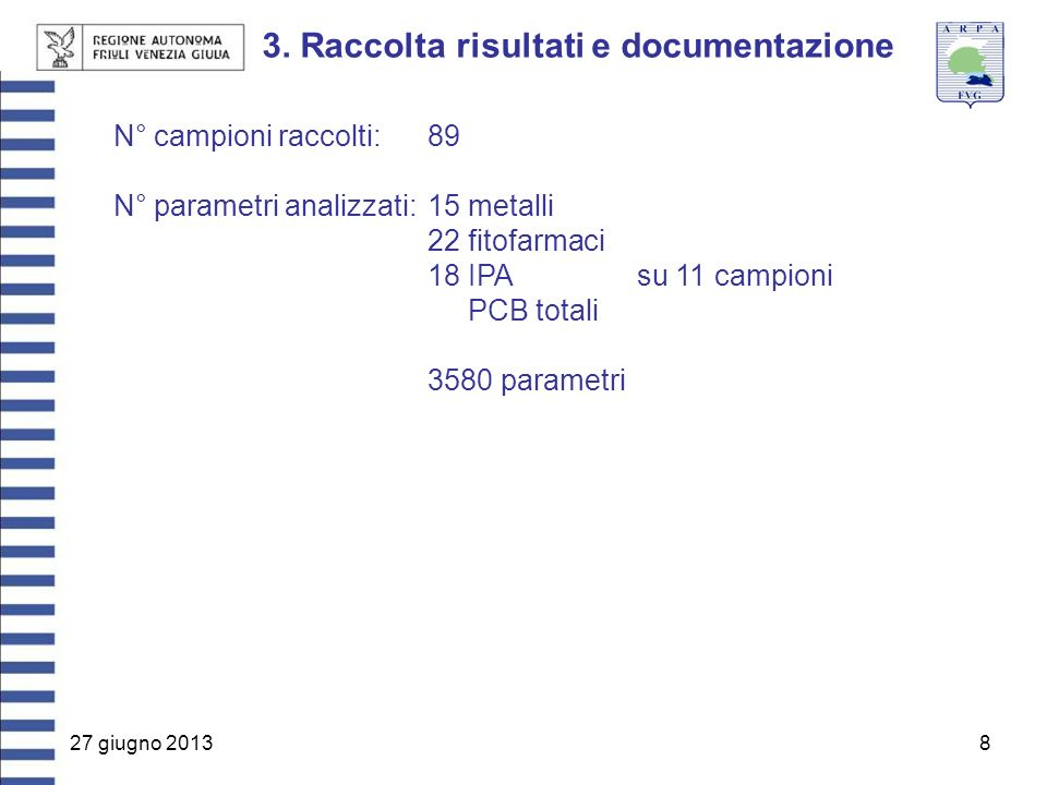 3. Raccolta risultati e documentazione