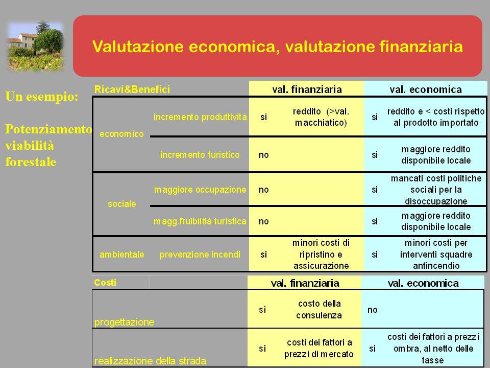 Valutazione economica, valutazione finanziaria