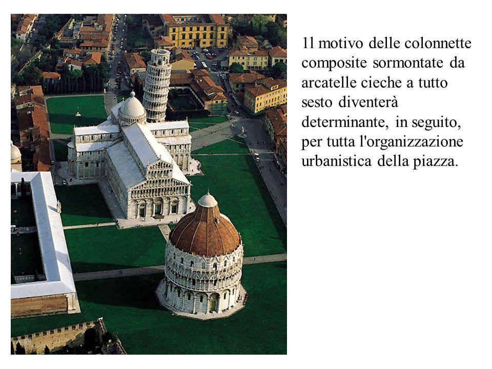 1l motivo delle colonnette composite sormontate da arcatelle cieche a tutto sesto diventerà determinante, in seguito, per tutta l organizzazione urbanistica della piazza.