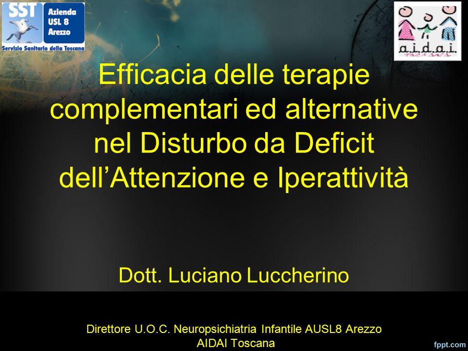Efficacia delle terapie complementari ed alternative nel Disturbo da Deficit dell'Attenzione e Iperattività Dott.