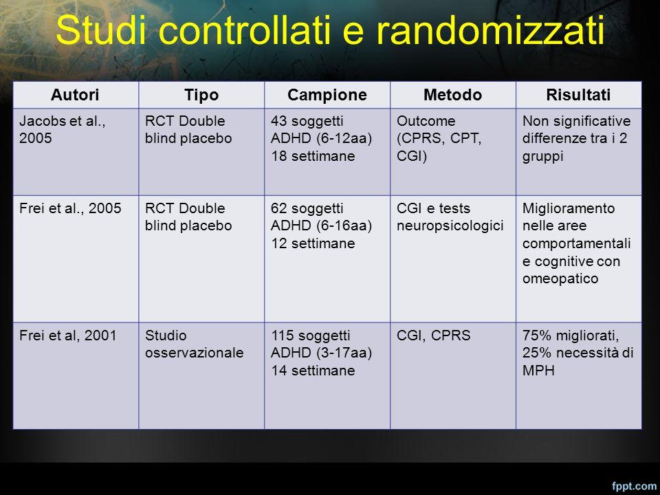 Studi controllati e randomizzati