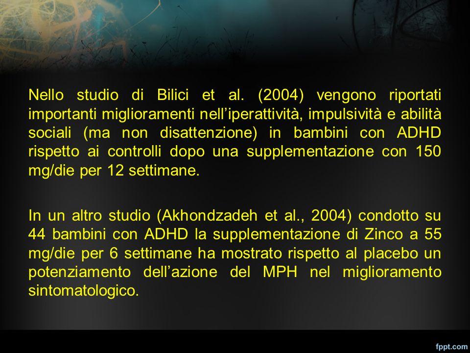 Nello studio di Bilici et al