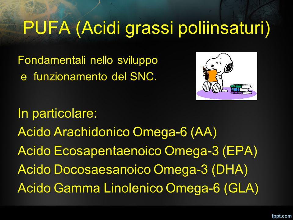 PUFA (Acidi grassi poliinsaturi)