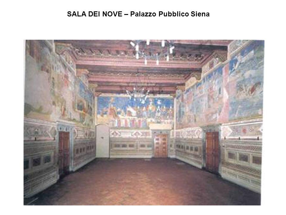 SALA DEI NOVE – Palazzo Pubblico Siena