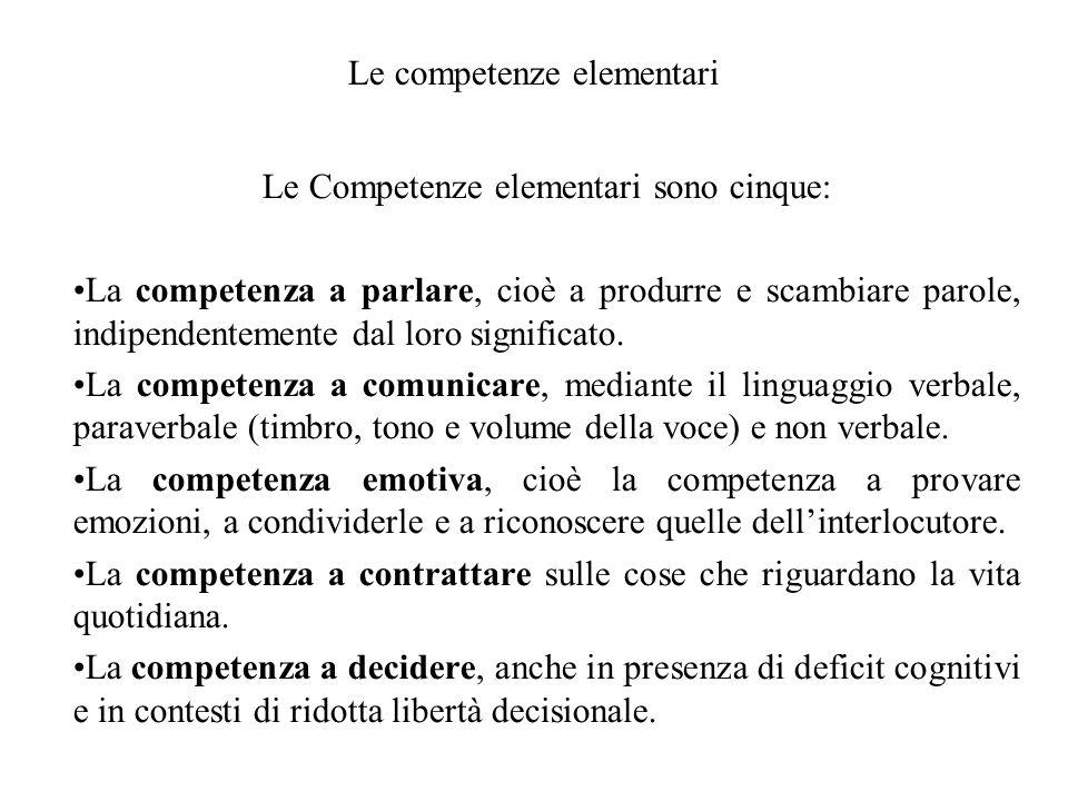 Le competenze elementari