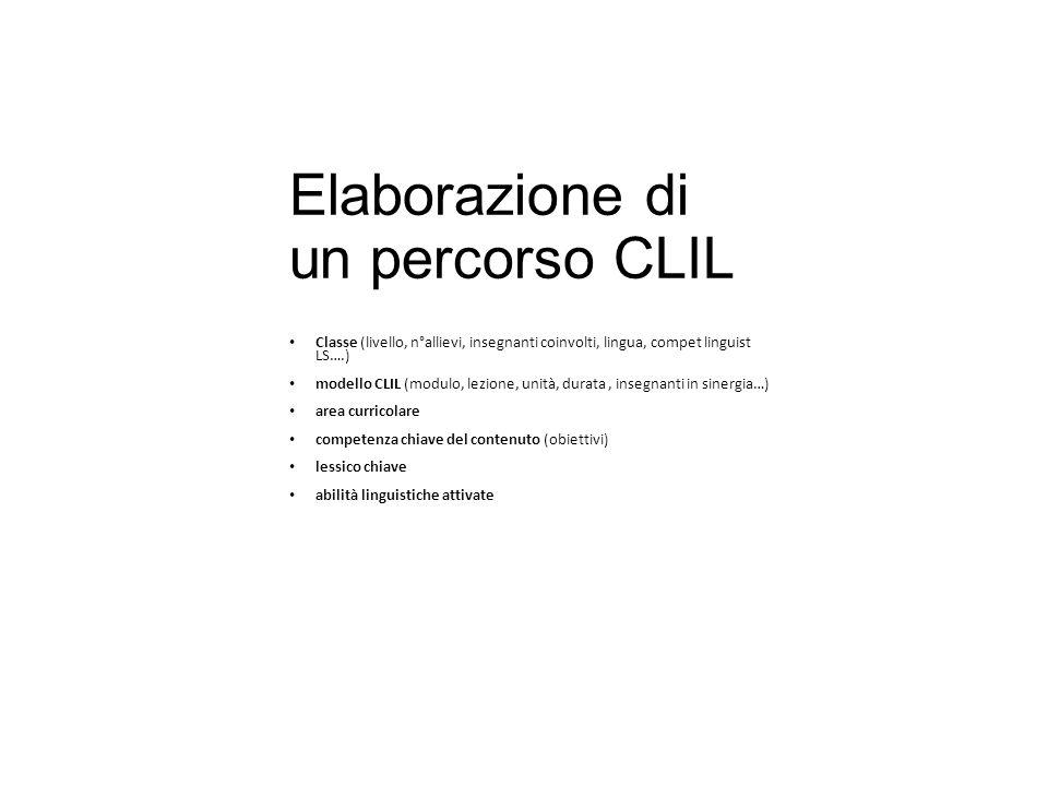 Elaborazione di un percorso CLIL