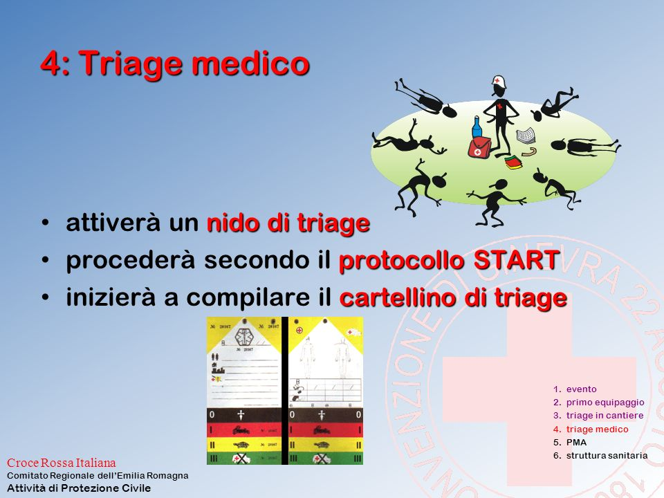 4: Triage medico attiverà un nido di triage