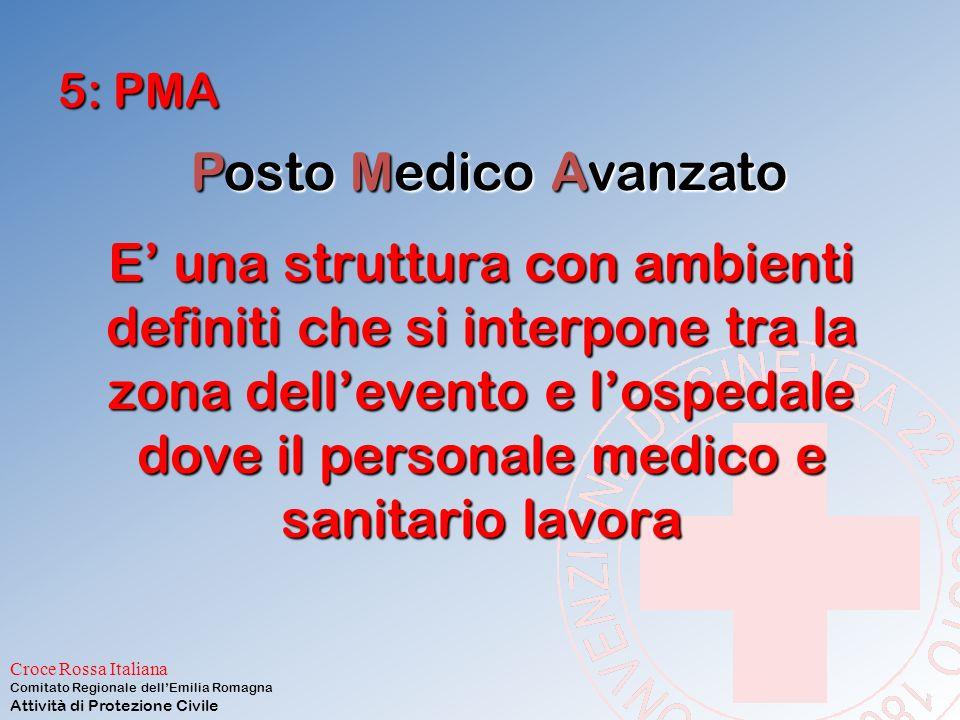 5: PMA Posto Medico Avanzato.