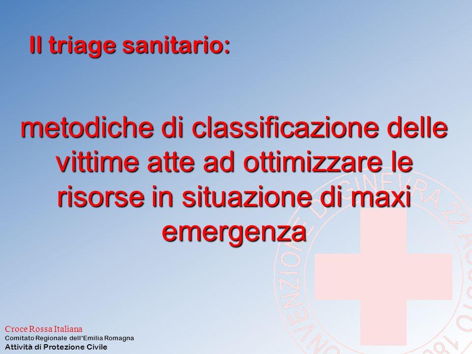 Il triage sanitario: metodiche di classificazione delle vittime atte ad ottimizzare le risorse in situazione di maxi emergenza.