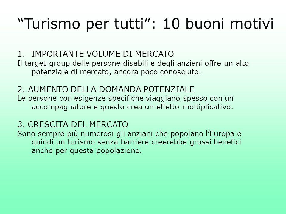 Turismo per tutti : 10 buoni motivi