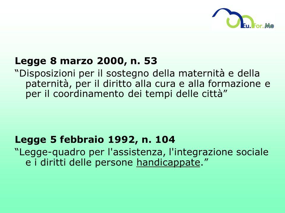 Legge 8 marzo 2000, n. 53