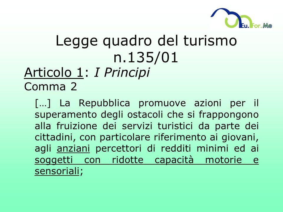 Legge quadro del turismo n.135/01