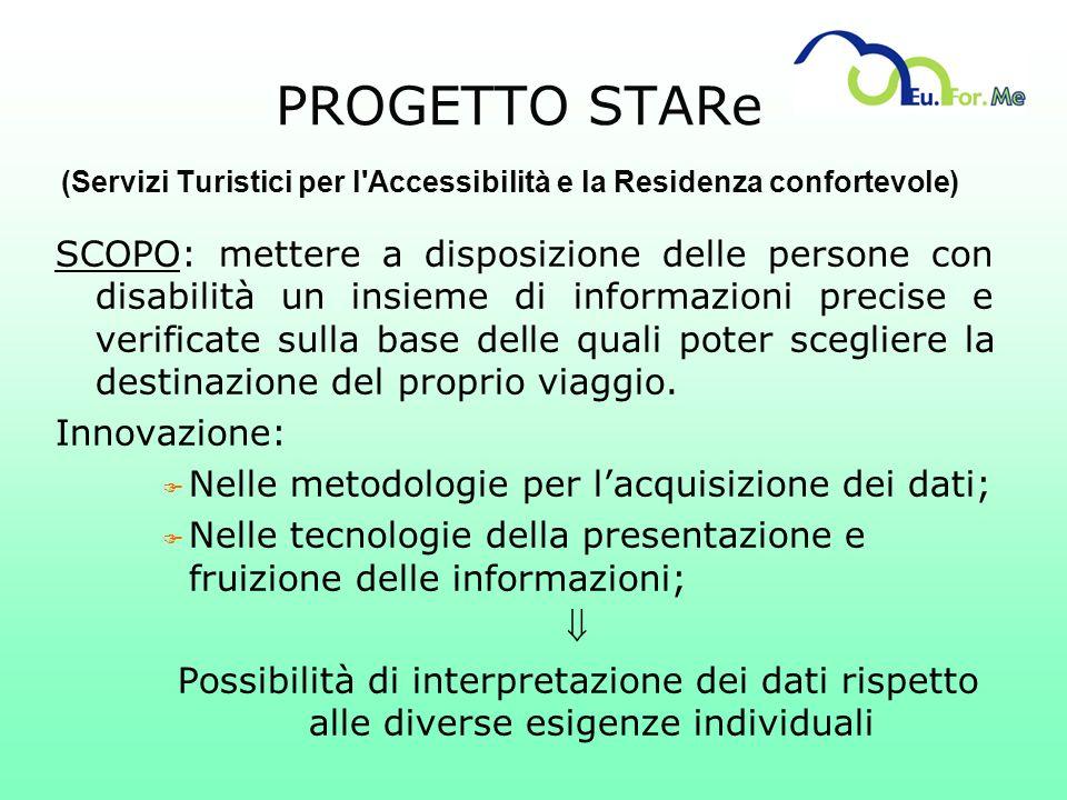 PROGETTO STARe (Servizi Turistici per l Accessibilità e la Residenza confortevole)