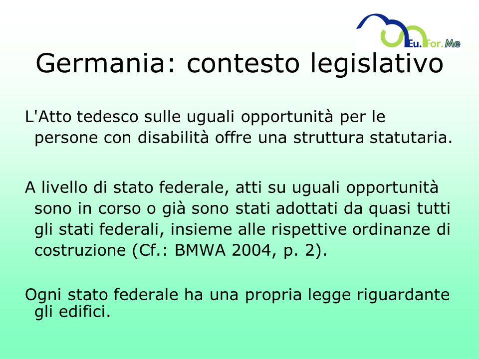 Germania: contesto legislativo