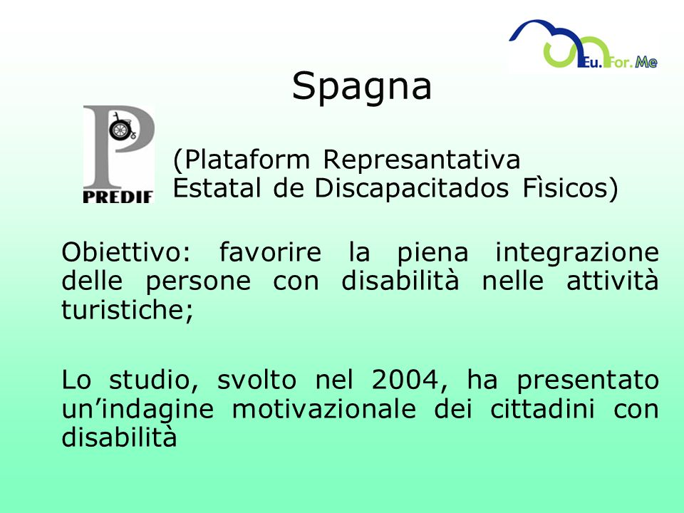 Spagna (Plataform Represantativa Estatal de Discapacitados Fìsicos)