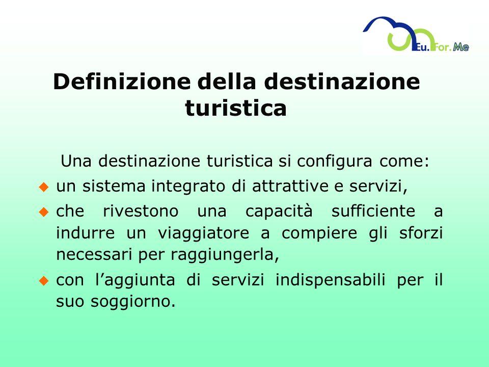 Definizione della destinazione turistica