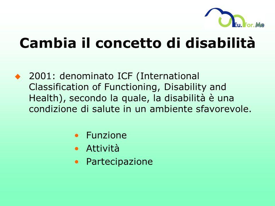 Cambia il concetto di disabilità