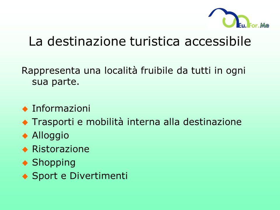 La destinazione turistica accessibile