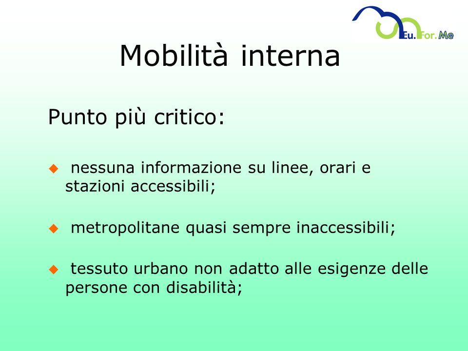 Mobilità interna Punto più critico: