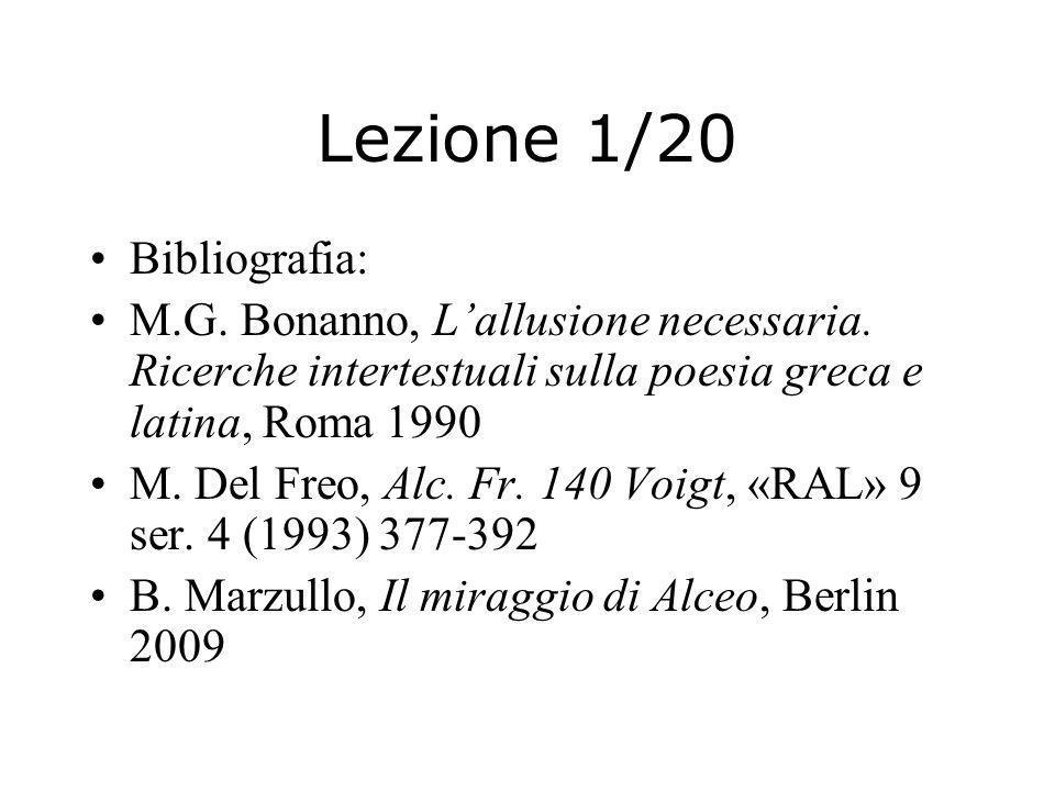 Lezione 1/20 Bibliografia: