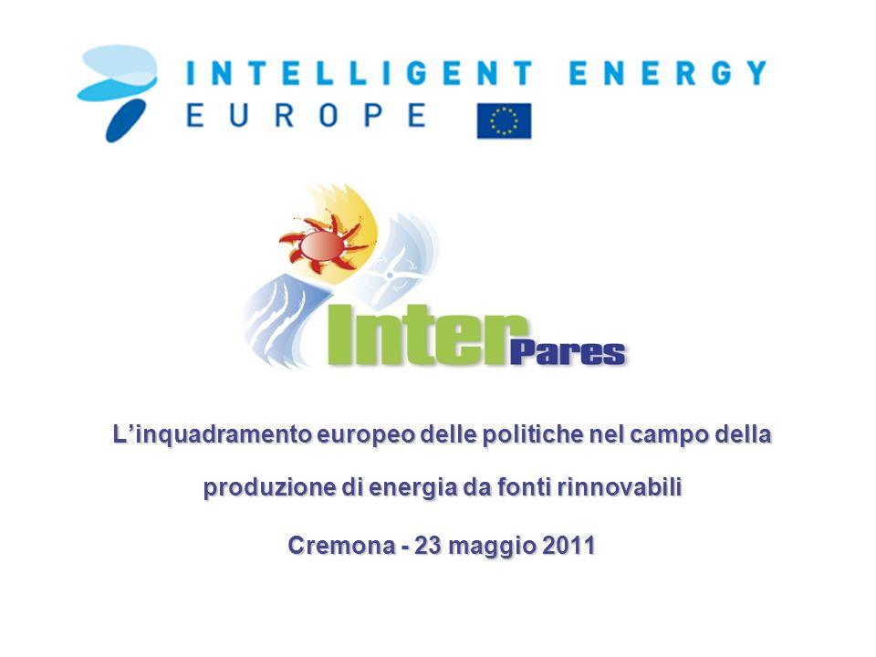 L'inquadramento europeo delle politiche nel campo della produzione di energia da fonti rinnovabili