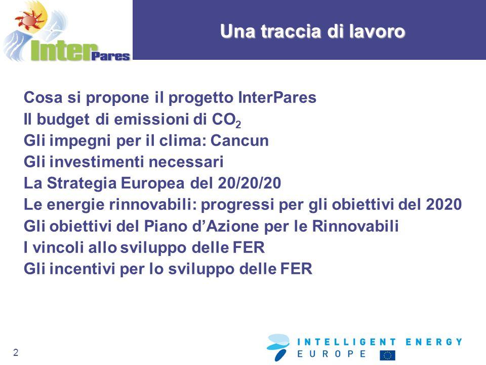 Una traccia di lavoro Cosa si propone il progetto InterPares
