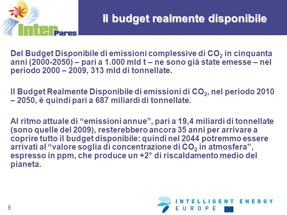 Il budget realmente disponibile