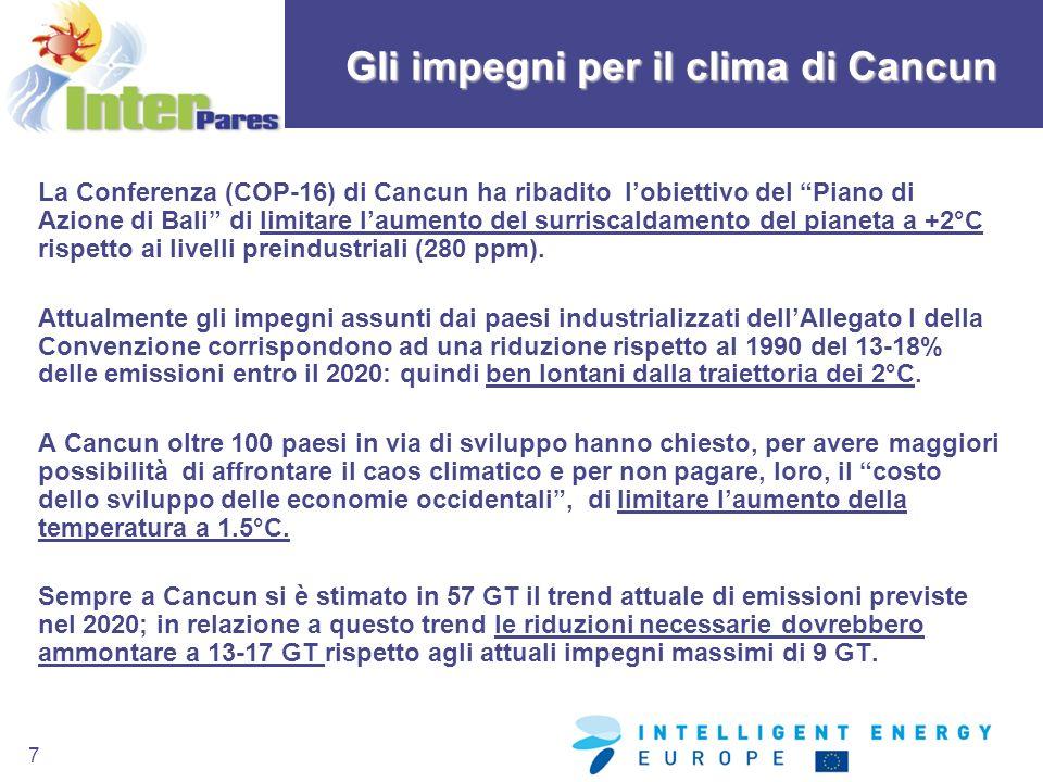 Gli impegni per il clima di Cancun