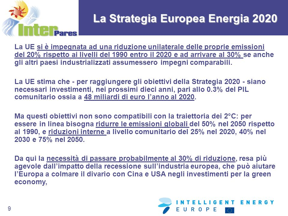 La Strategia Europea Energia 2020