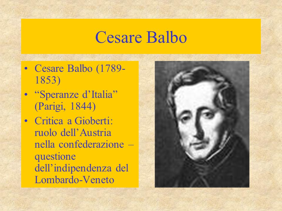 Cesare Balbo Cesare Balbo (1789-1853)