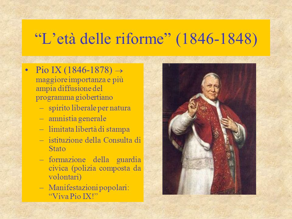 L'età delle riforme (1846-1848)