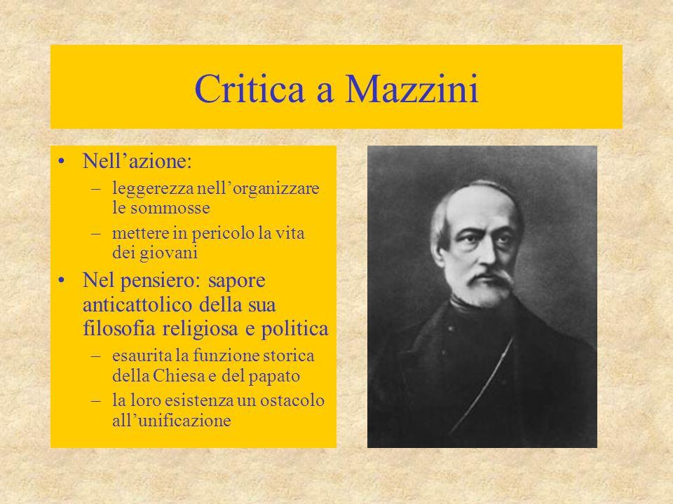 Critica a Mazzini Nell'azione: