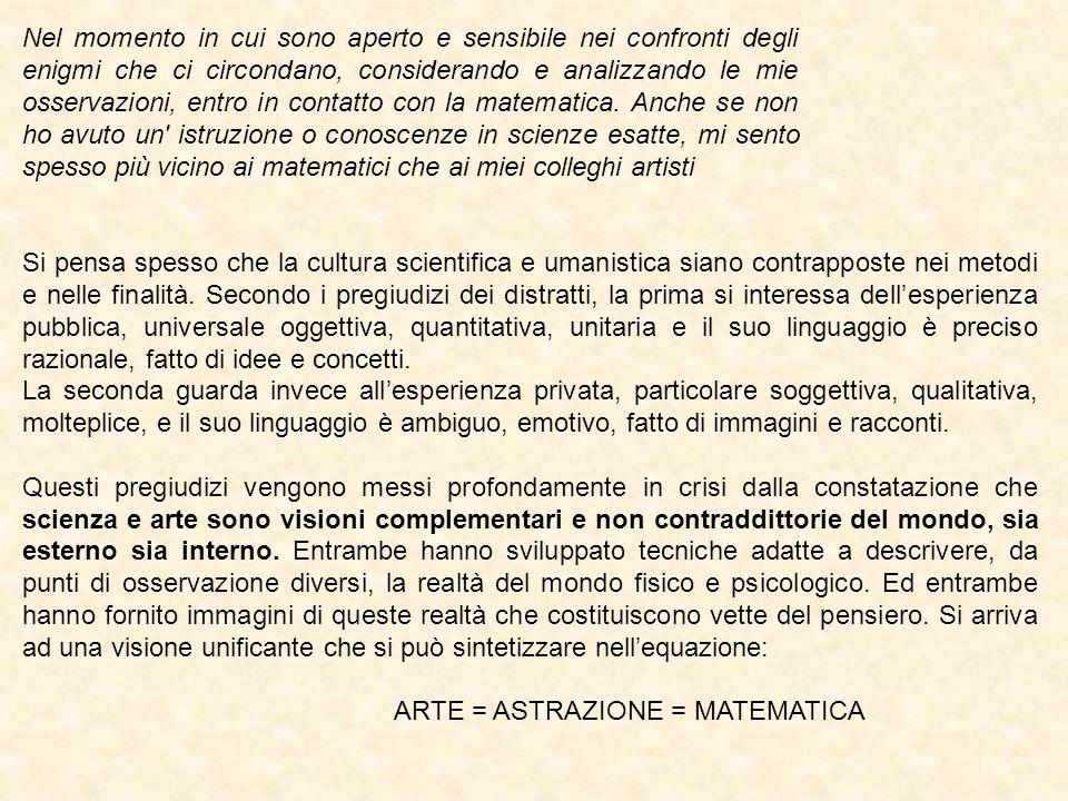 ARTE = ASTRAZIONE = MATEMATICA