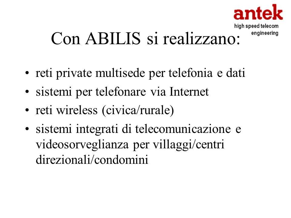 Con ABILIS si realizzano: