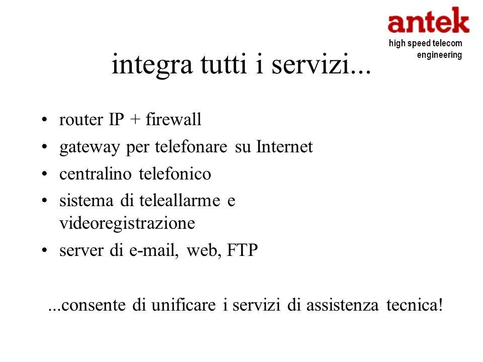 integra tutti i servizi...